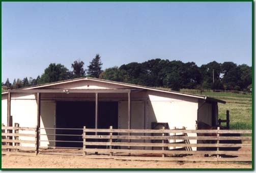 Horse Boarding Facility:Stalls with attached runs.